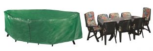 Bosmere Protector 295cm x 190cm 8 Seater Green Rectangular Patio Set Garden Furniture Cover