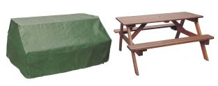 Bosmere Protector Green Picnic Table Garden Furniture Cover