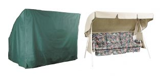 Bosmere Cover Up 3 Seater Green Hammock Garden Furniture Cover W220cm x D135cm