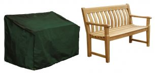 Bosmere Cover Up 163cm x 66cm 3 Seater Green Bench Garden Furniture Cover