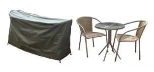 Bosmere Cover Up 146cm x 70cm 2 Seater Green Cafe Set Garden Furniture Cover