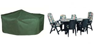 Bosmere Cover Up 270cm x 180cm 6 Seater Green Rectangular Patio Set Garden Furniture Cover