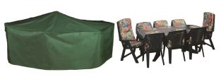 Bosmere Cover Up 295cm x 203cm 8 Seater Green Rectangular Patio Set Garden Furniture Cover