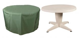 Bosmere Cover Up - 4/6 Seater Green Circular Table Garden Furniture Cover D128cm