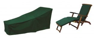 Bosmere Cover Up L150cm x W60cm Green Steamer Chair Garden Furniture Cover