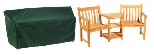 Bosmere Cover Up Conversation Seat Green Garden Furniture Cover L184cm x D60cm