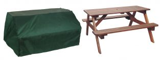 Bosmere Cover Up 6 Seater Green Picnic Table Garden Furniture Cover W157cm x D145cm
