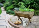 H81cm x W100cm Wooden Kitchen Garden Trough