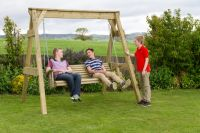Hollywood Wooden Swing Seat W222cm x H214cm
