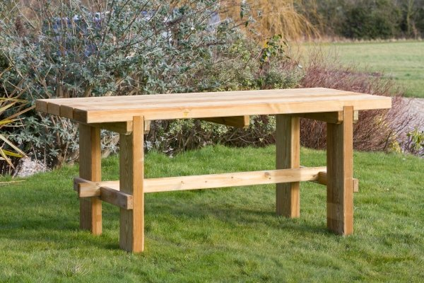 Zest 4 Leisure 1.8m (5ft 10in) Rebecca Wooden Table
