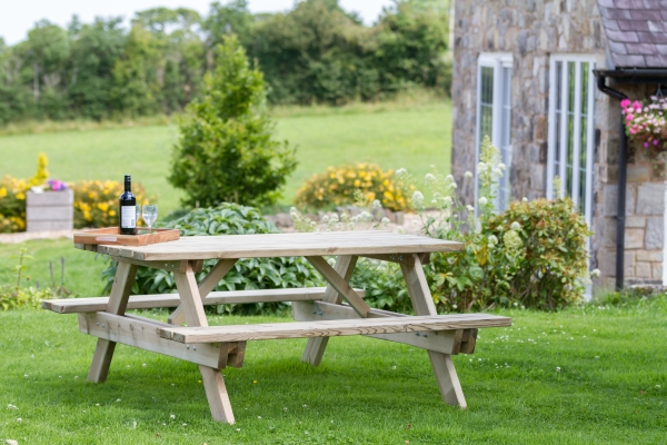 1.6m (5ft 3in) Katrina Garden Picnic Table FSC® by Zest 4 Leisure®