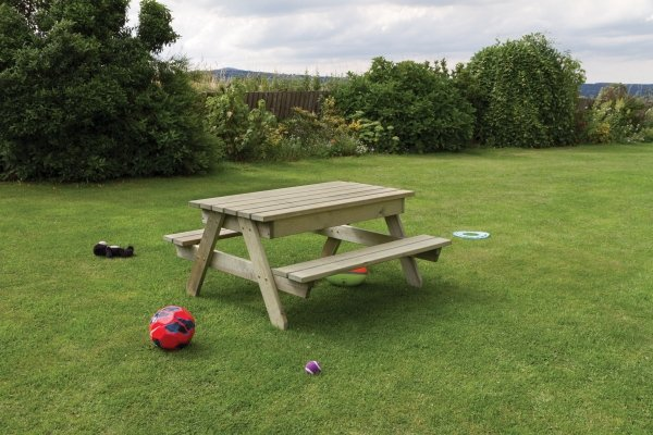 Alice Wooden Children's Picnic and Play Table 120cm x 120cm