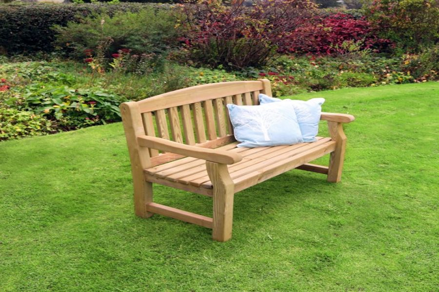 1 23m 4ft Emily Table Two Bench Garden Set Fsc 174 By Zest