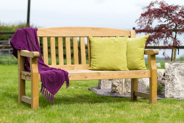 Emily Wooden 3 Seater 5ft Bench - 153cm