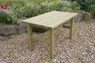 Zest 4 Leisure 1.6m (5ft 3in) Emily Rectangular Garden Table