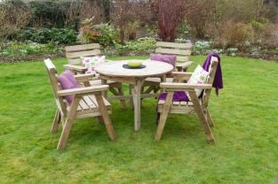 2.36m (7ft 6in) Abbey Round Table Chairs Set FSC® by Zest 4 Leisure®