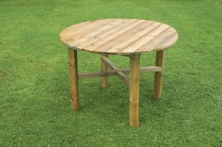 1m (3ft 3in) Abbey Round Garden Table FSC® by Zest 4 Leisure®