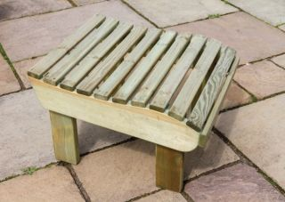 38cm (15in) Lily Wooden Foot Stool FSC® by Zest 4 Leisure®