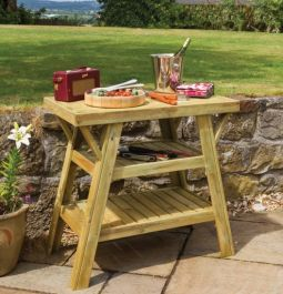 85cm (33in) BBQ Wooden Side Table FSC® by Zest 4 Leisure®