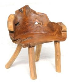 Ornamental Teak Root Chair