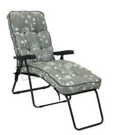 Deluxe Lounger 5 Position - Black and Grey