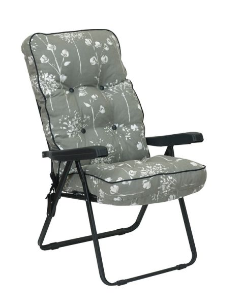 Deluxe Recliner 5 Position - Black and Grey