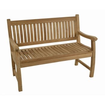 Charnwood 2 seat Teak Bench 120cm (3ft 11in)