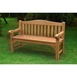 Oxford 3 seat Teak Bench 150cm (4ft 11in)