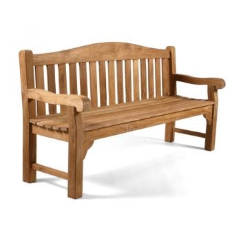 Oxford 4 seat Teak Bench 180cm (5ft 11in)