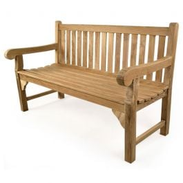 Queensbury 3 seat Teak Bench 150cm (4ft 11in)
