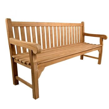 Queensbury 4 seat Teak Bench 180cm (5ft 11in)