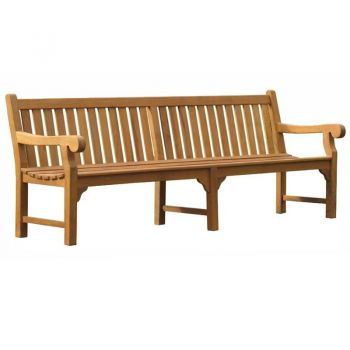 Queensbury 6 seat Teak Bench 240cm (7ft 11in)