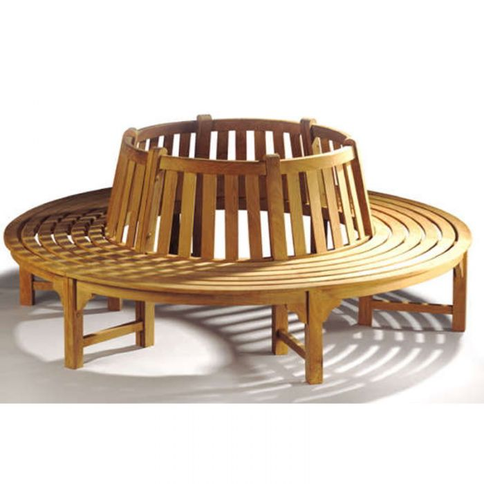 Full Round Teak Tree Seat/Bench 220cm (8ft 3in)