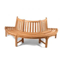 Half Round Teak Tree Seat/Bench 220cm (8ft 3in)