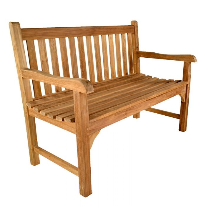 Warwick 2 seat Teak Bench 120cm (3ft 11in)