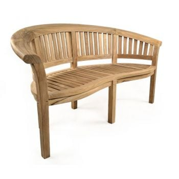 Windsor Curved 3 seat Teak Bench 165cm (5ft 5in)