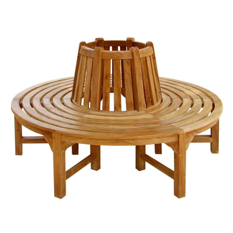 Full Round Teak Tree Seat/Bench 150cm (4ft 11in)
