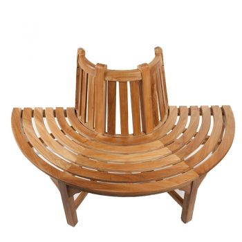Half Round Teak Tree Seat/Bench 150cm (4ft 11in)