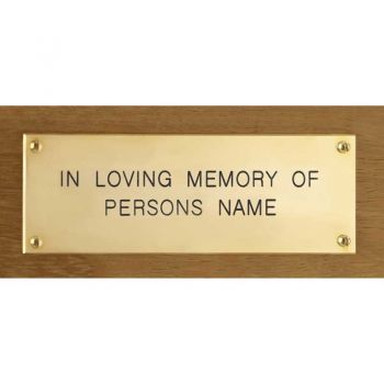 Brass Inscription Plaque