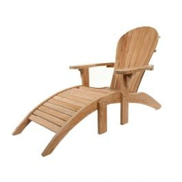 Teak Andirondack Chair with separate Ottoman