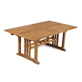 Berrington 8-10 Seater Extending Teak Dining Table 110cm (3ft 7in)