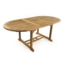 King John Extending 6 Seater Rounded Teak Table 110cm (3ft 7in)