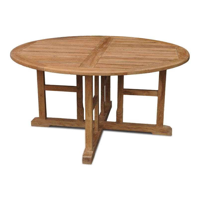 Madison 6 seater round teak table 150cm 4ft 11in for Round table 99 rosenheim
