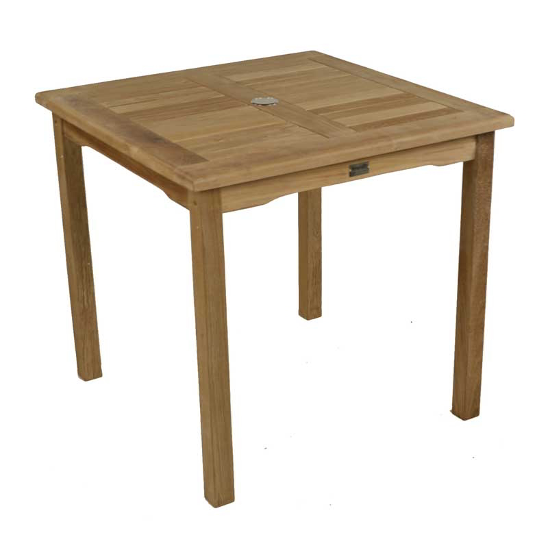 Bistro 2-4 Seater Square Teak Table 80cm (2ft 7in)