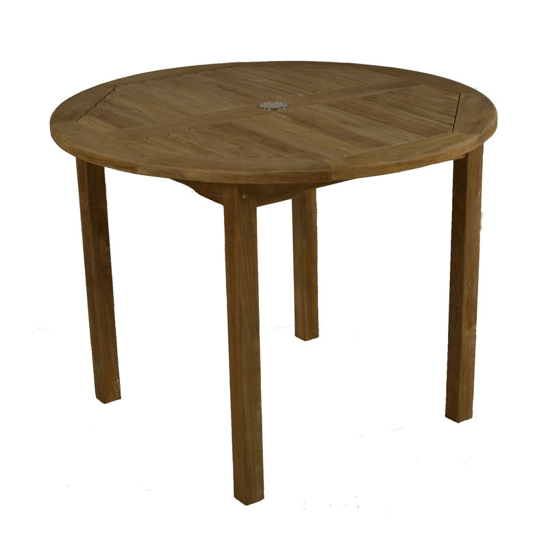 Bistro 2-4 Seater Round Teak Table 100cm (3ft 3in)