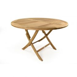Willoughby 4 Seater Round Folding Teak Table 120cm (3ft 11in)