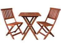 Harvest Two Seater Square Wooden Bistro Set