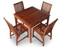 Devon Four Seater Square Hardwood Dining Set