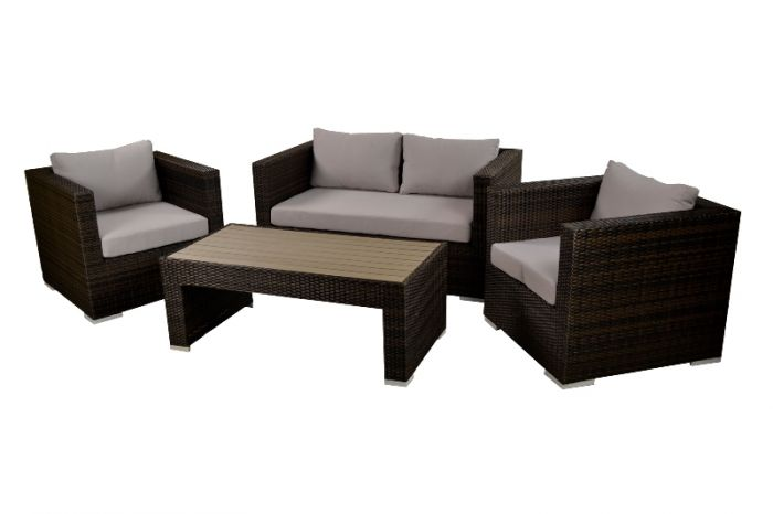 Denby Four Seater Rattan Sofa Set