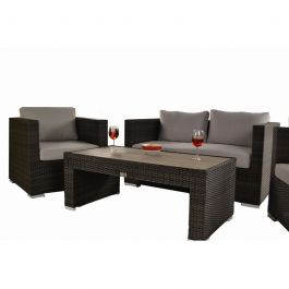 Denby Two Seater Rattan Sofa (only) with Cushions W136cm x D78cm